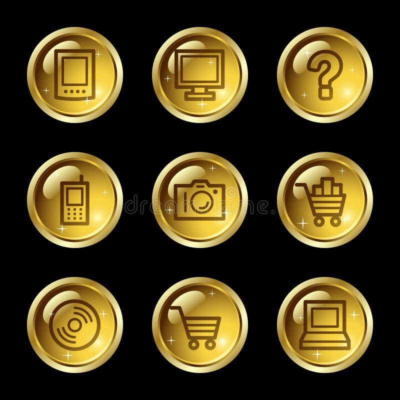 Ícones do Web da eletrônica ilustração do vetor