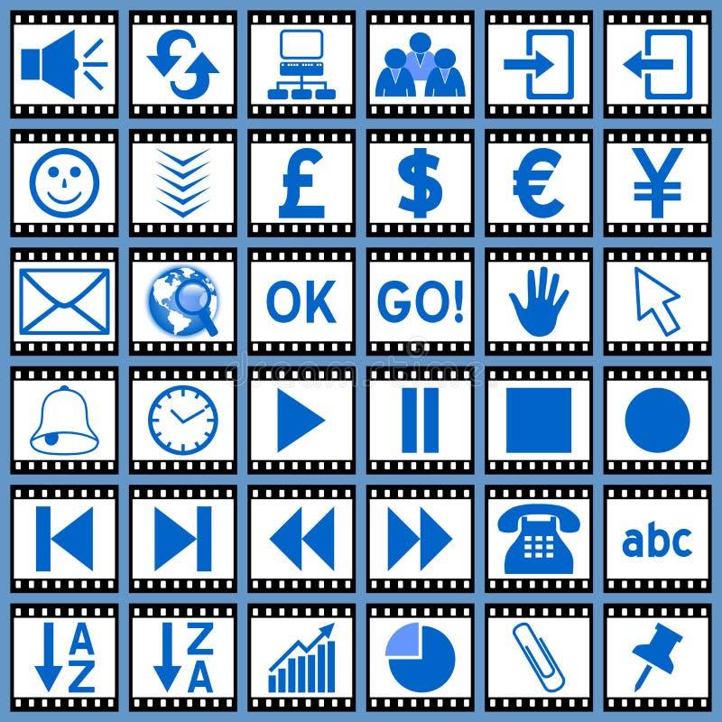 Ícones do Web da película [3] ilustração royalty free