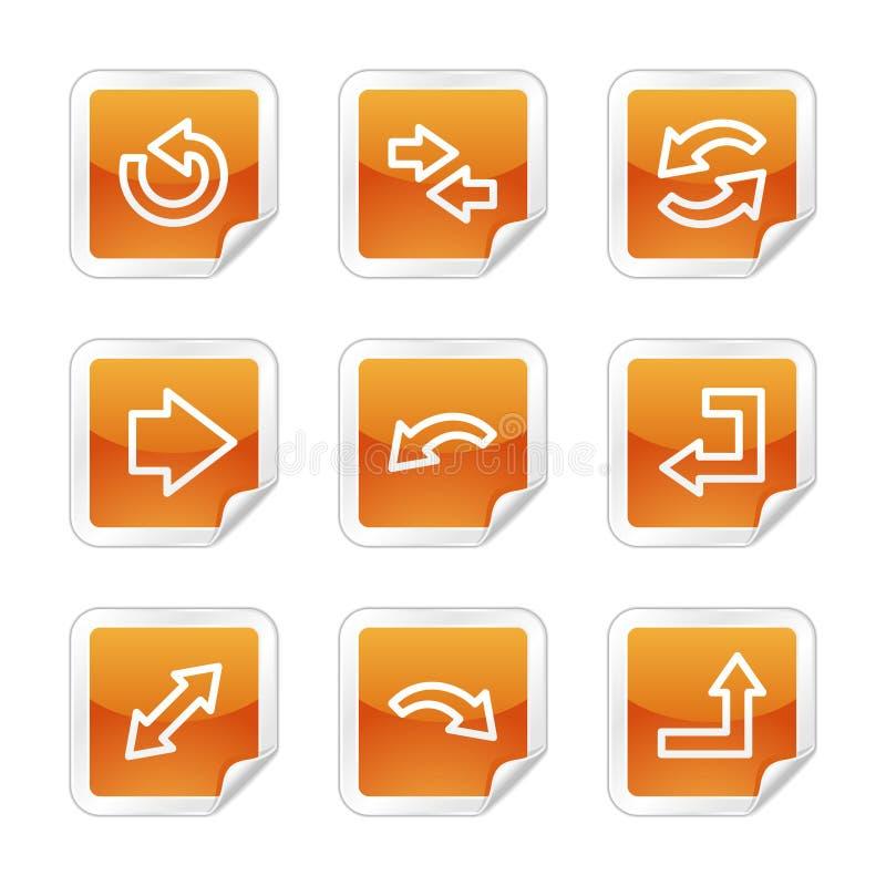 Ícones do Web das setas ilustração stock