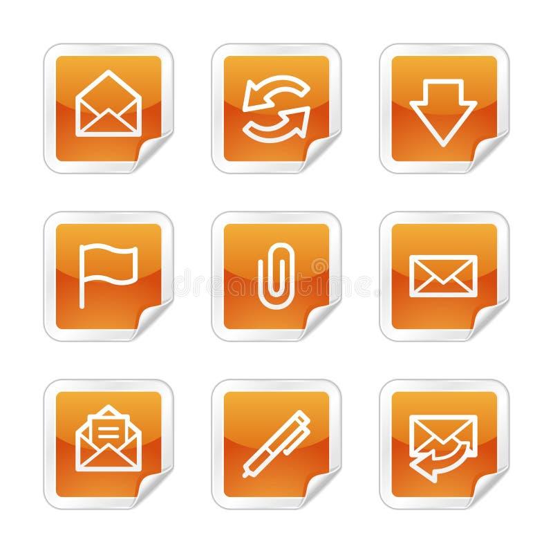 Ícones do Web do email ilustração do vetor