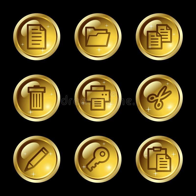 Ícones do Web do original ilustração stock
