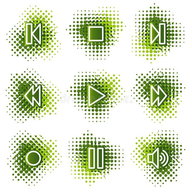 Ícones do Web do walkman ilustração stock