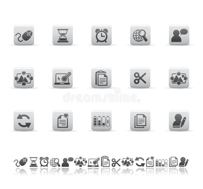 Ícones Do Web E Do Escritório Fotografia de Stock