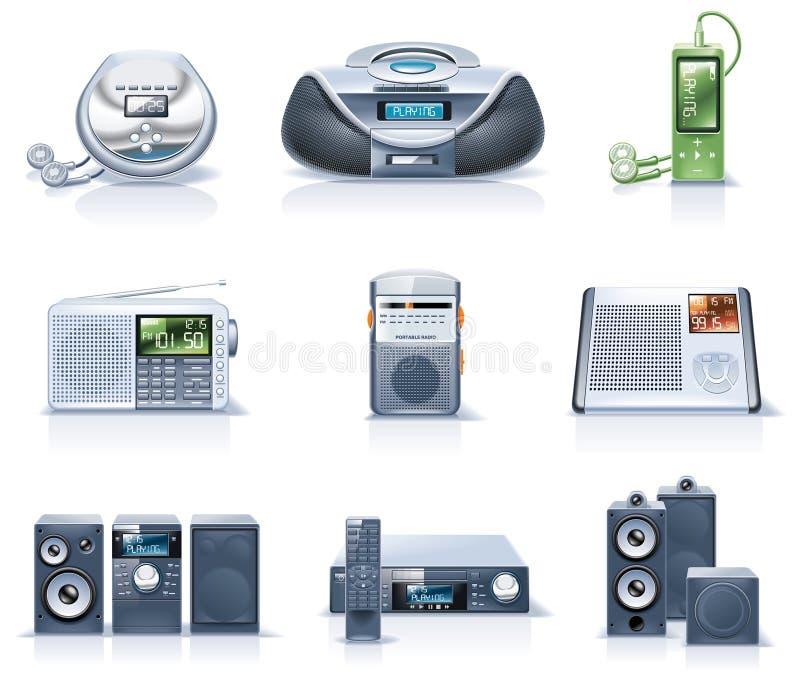 Ícones dos aparelhos electrodomésticos do vetor. Parte 8 ilustração do vetor