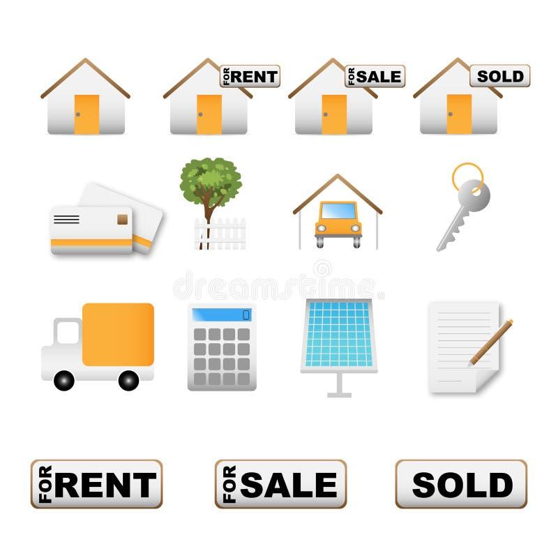 Ícones dos bens imobiliários