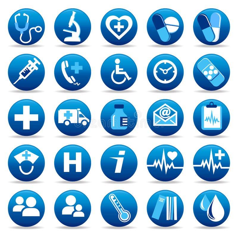 Ícones dos cuidados médicos ilustração stock