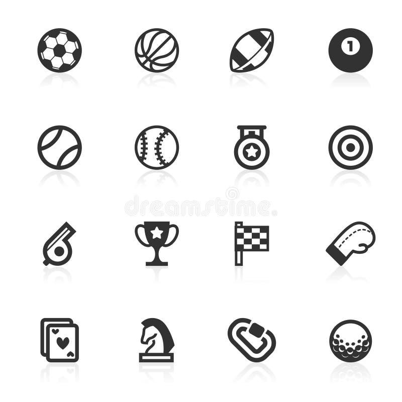 Ícones dos esportes - série do minimo ilustração royalty free