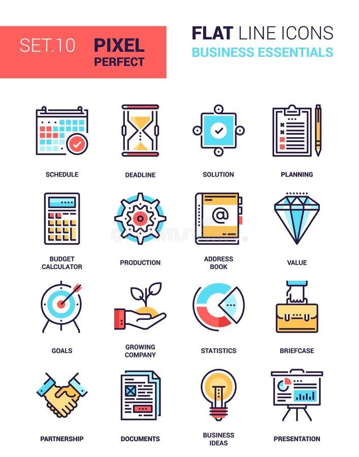 Ícones dos fundamentos do negócio ilustração stock