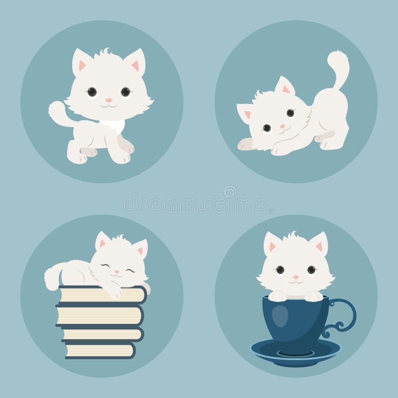 Ícones dos gatinhos ilustração stock
