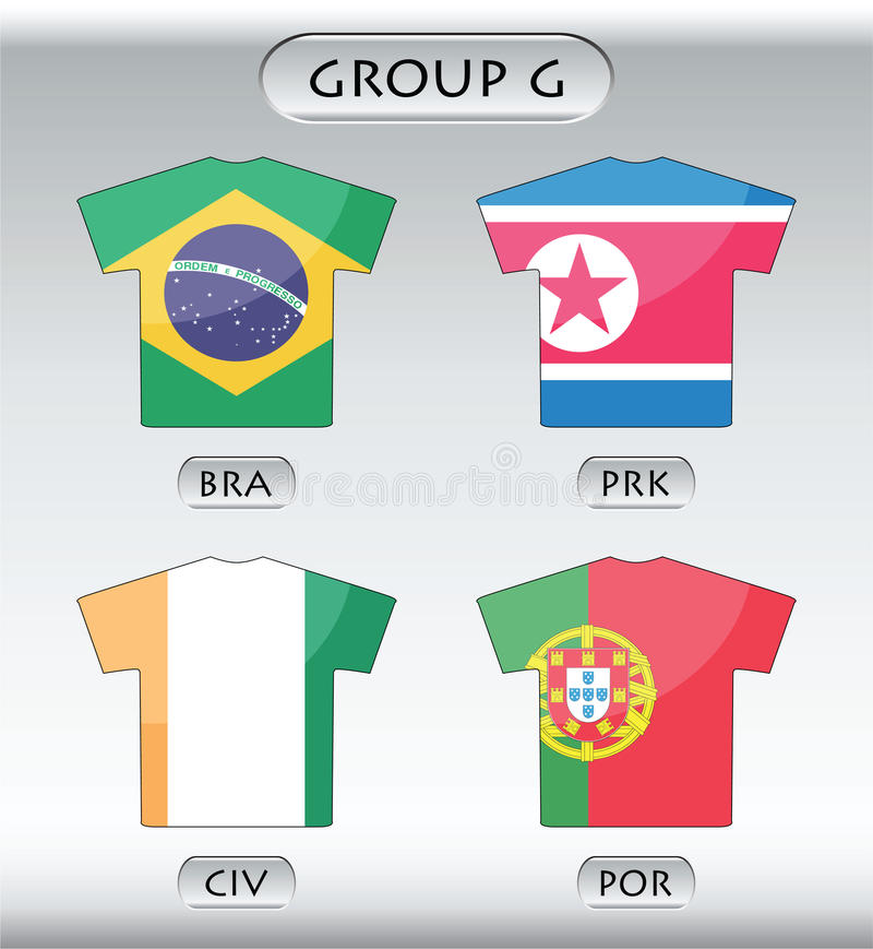 ícones dos países, grupo G ilustração do vetor