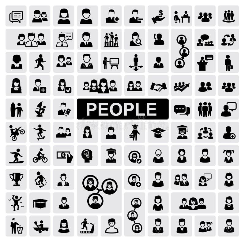 Ícones dos povos ilustração royalty free