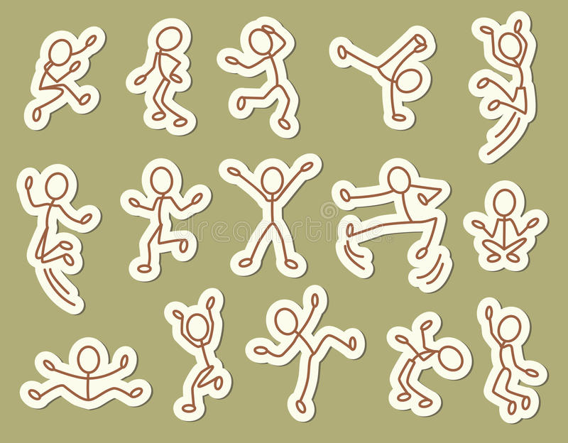 Ícones dos povos ilustração stock