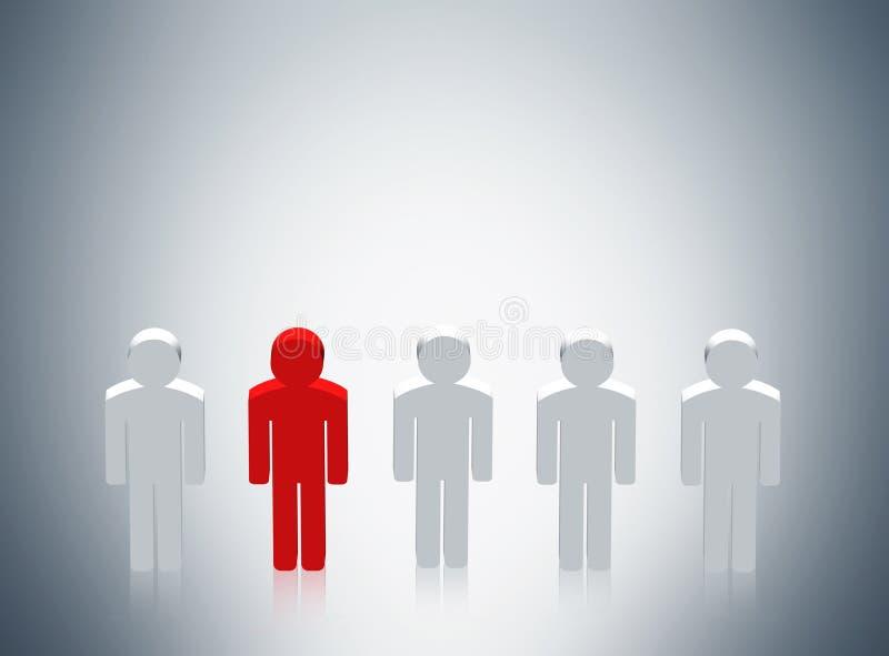 Ícones dos povos do conceito do recrutamento ilustração stock
