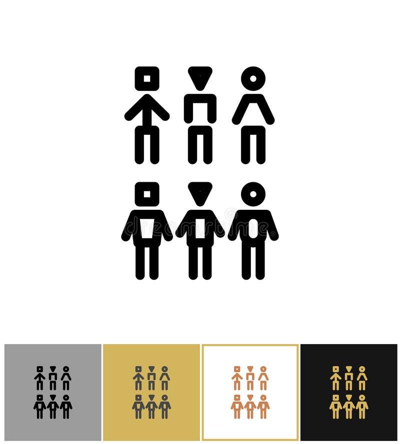 Ícones dos povos, pessoas humanas ou símbolos do cliente ilustração royalty free