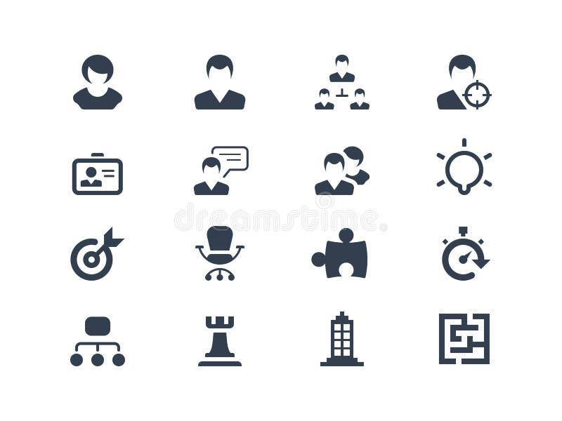 Ícones dos recursos humanos ilustração do vetor