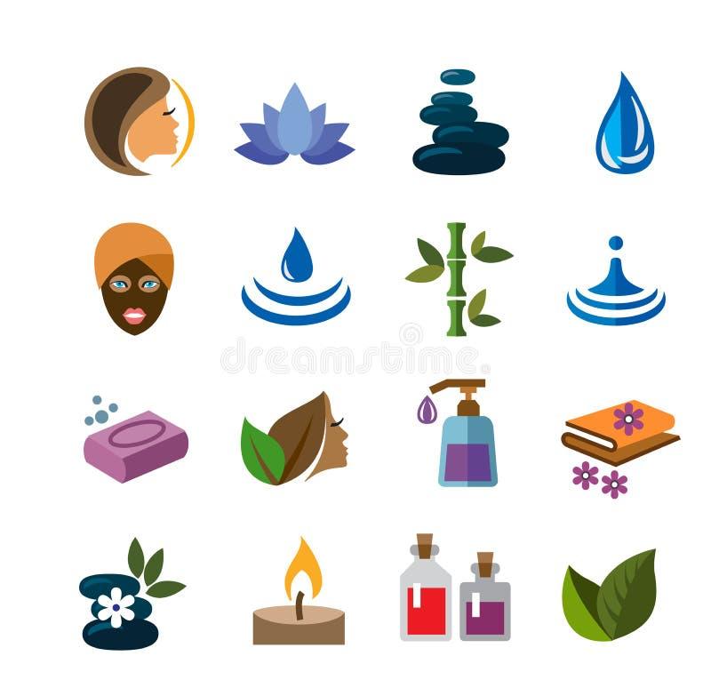Ícones dos termas ilustração stock