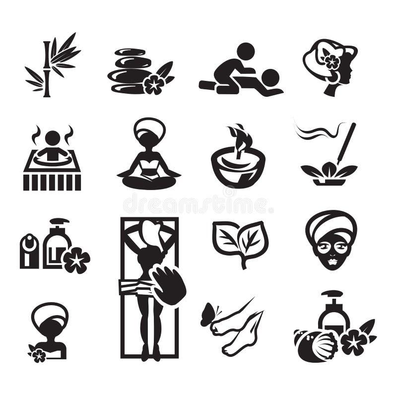 Ícones dos termas ajustados ilustração do vetor