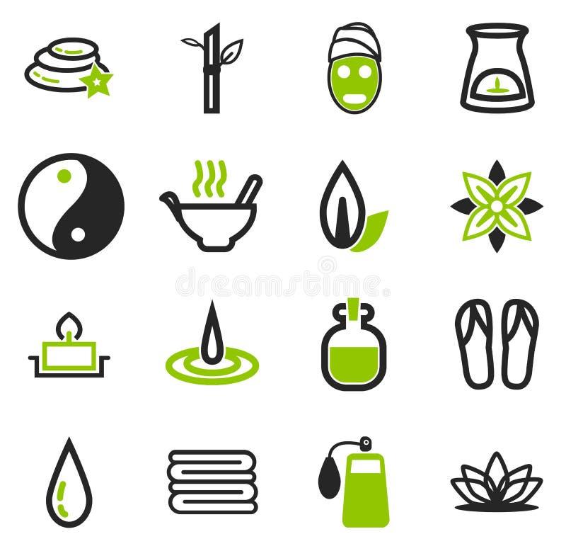 Ícones dos termas ajustados ilustração stock
