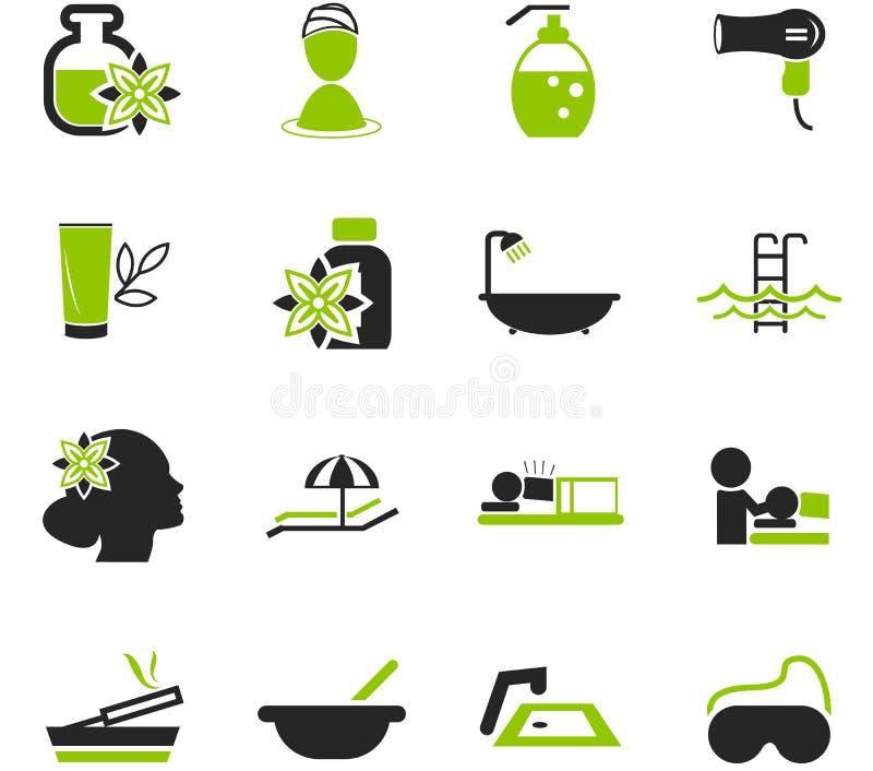 Ícones dos termas ajustados ilustração royalty free