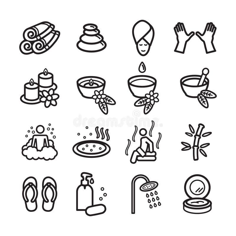 Ícones dos termas ajustados Vetor EPS 10 ilustração royalty free