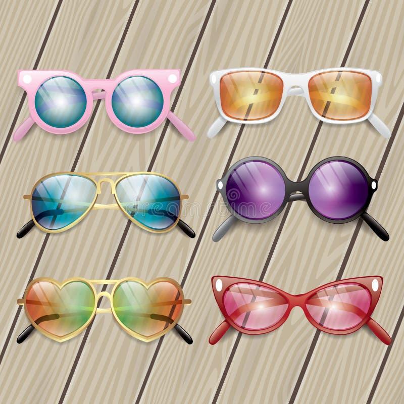 Ícones dos vidros fotografia de stock