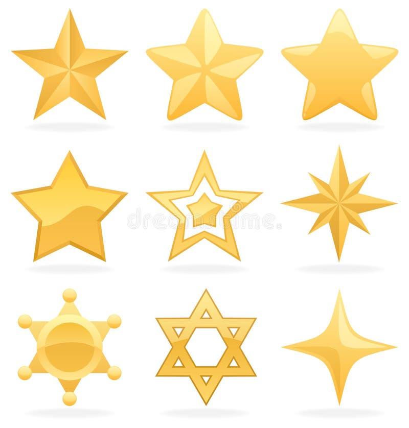Ícones dourados da estrela