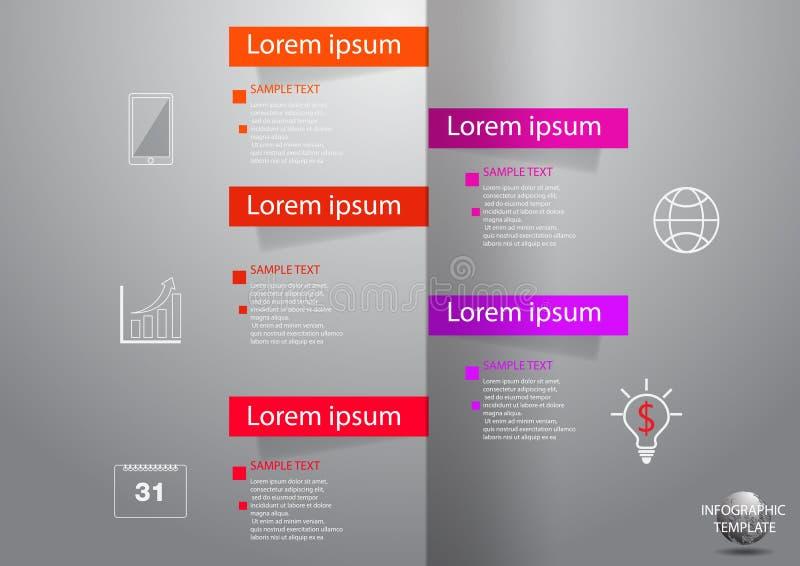 Ícones e Busi do mercado do projeto e do molde de Infographic ilustração stock