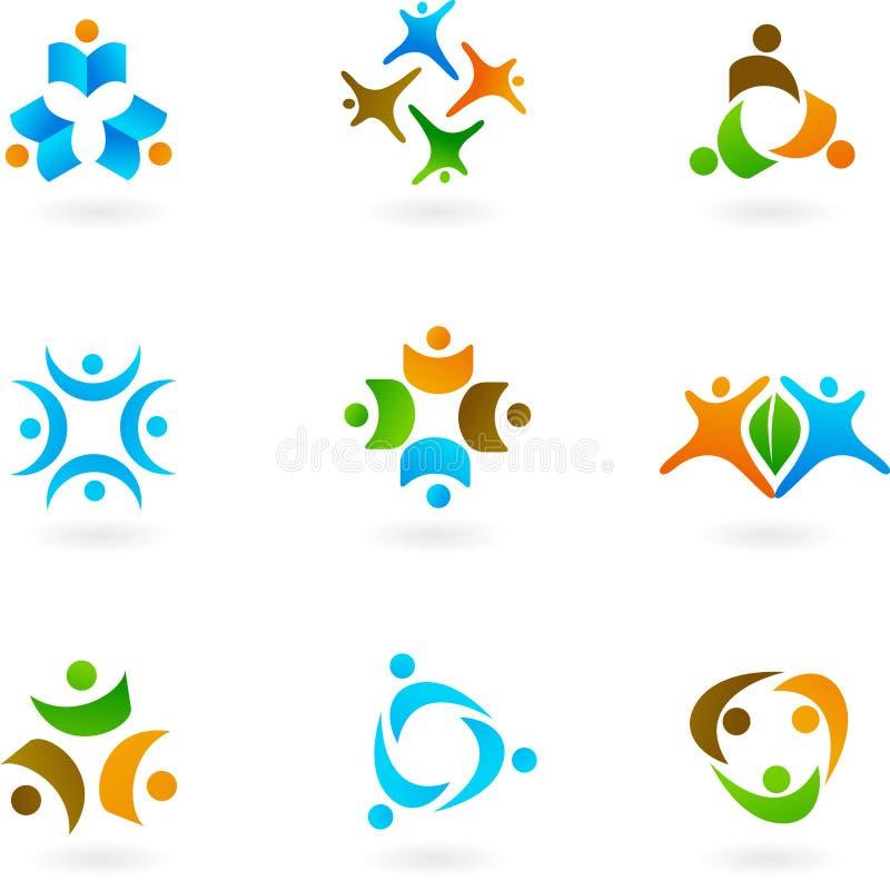 Ícones e logotipos humanos 1 ilustração royalty free