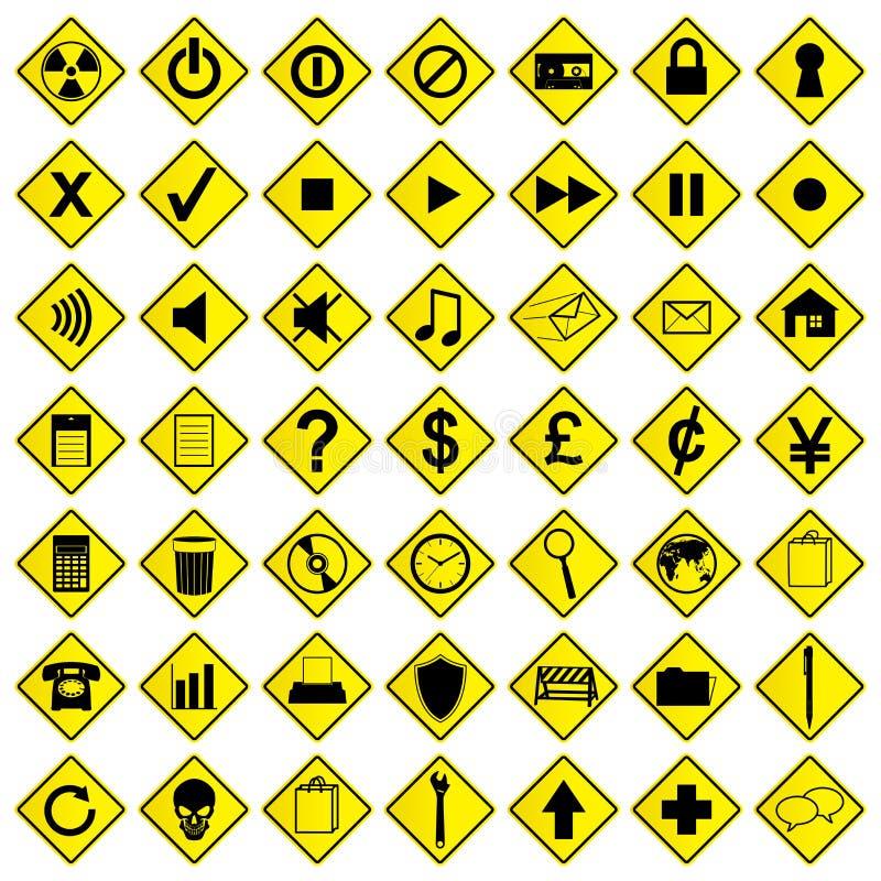 Ícones e sinais ilustração do vetor
