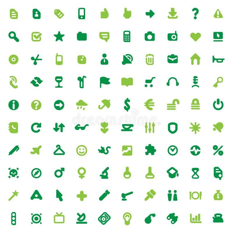 Ícones e sinais verdes