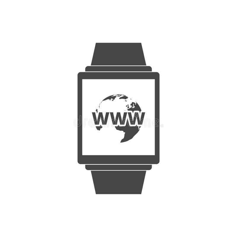 ícones espertos do relógio Horas mecânica, símbolos do temporizador do cronômetro ilustração royalty free