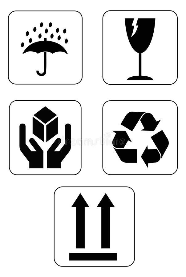 Ícones frágeis do sinal ilustração royalty free