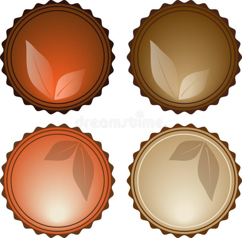 Ícones Glassy ilustração stock
