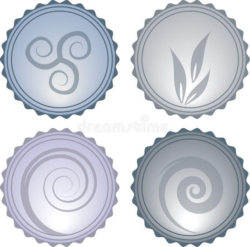 Ícones Glassy ilustração royalty free