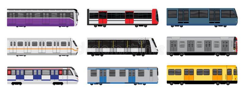 Ícones grupo do metro, estilo dos desenhos animados ilustração royalty free