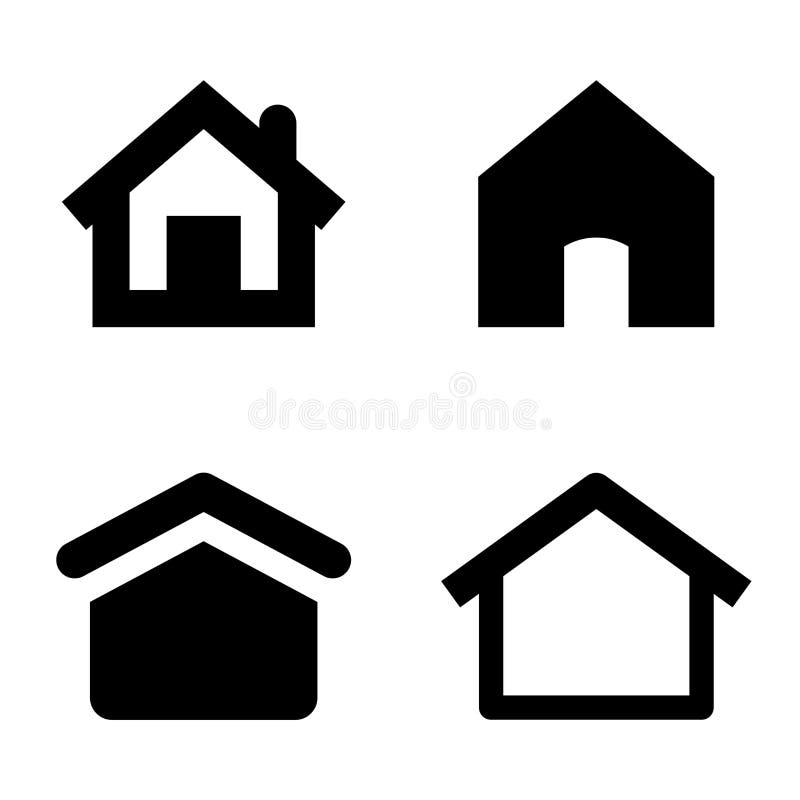 Ícones home ilustração stock