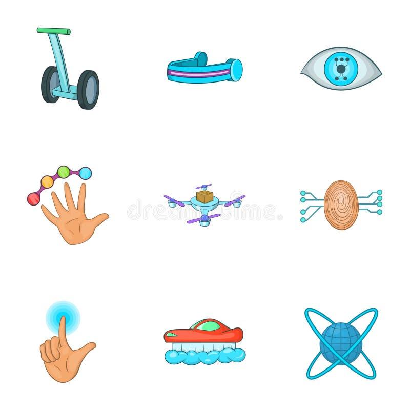 Download Ícones Inovativos Ajustados, Estilo Do Dispositivo Dos Desenhos Animados Ilustração do Vetor - Ilustração de zangão, indicador: 80101073