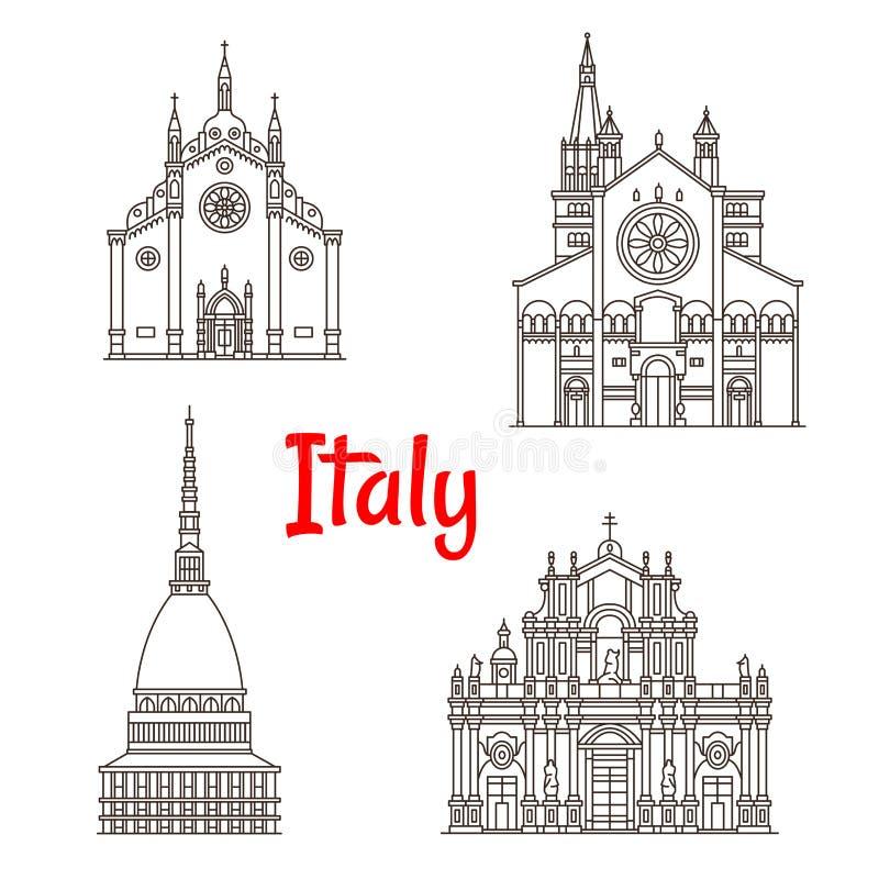 Ícones Italianos Do Vetor Dos Marcos De Itália Da Arquitetura ...
