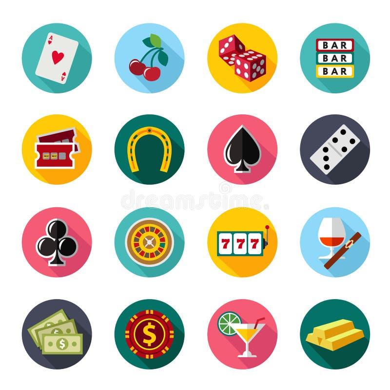 Ícones lisos coloridos do vetor ajustados Projeto da qualidade ilustração royalty free