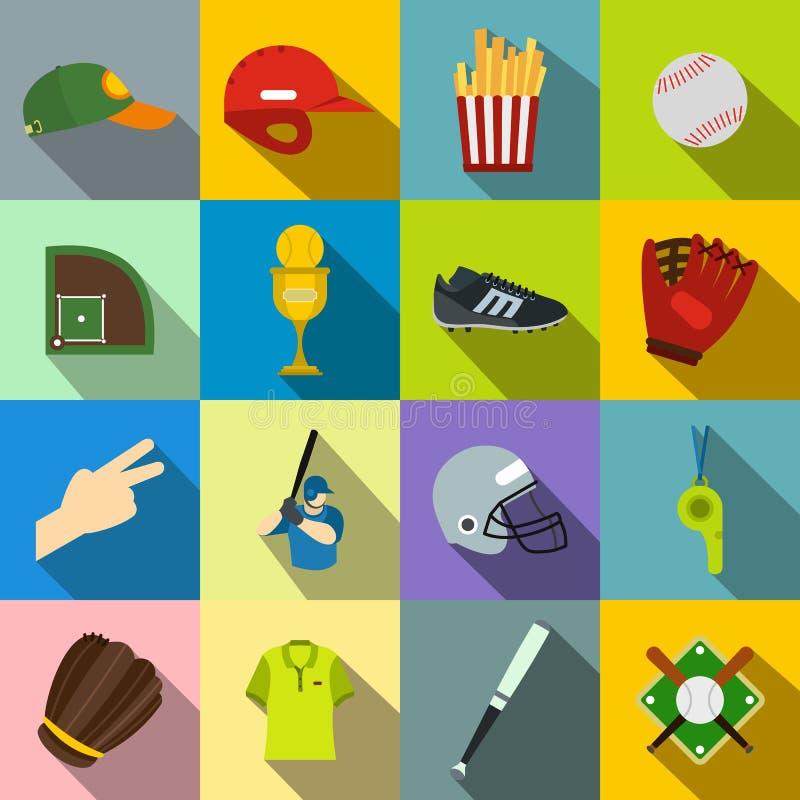 Ícones lisos do futebol americano ilustração stock