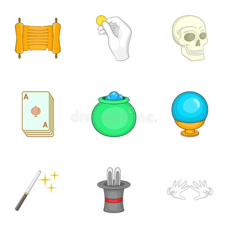 Download Ícones Mágicos Ajustados, Estilo Dos Desenhos Animados Ilustração do Vetor - Ilustração de evento, imagem: 80100574