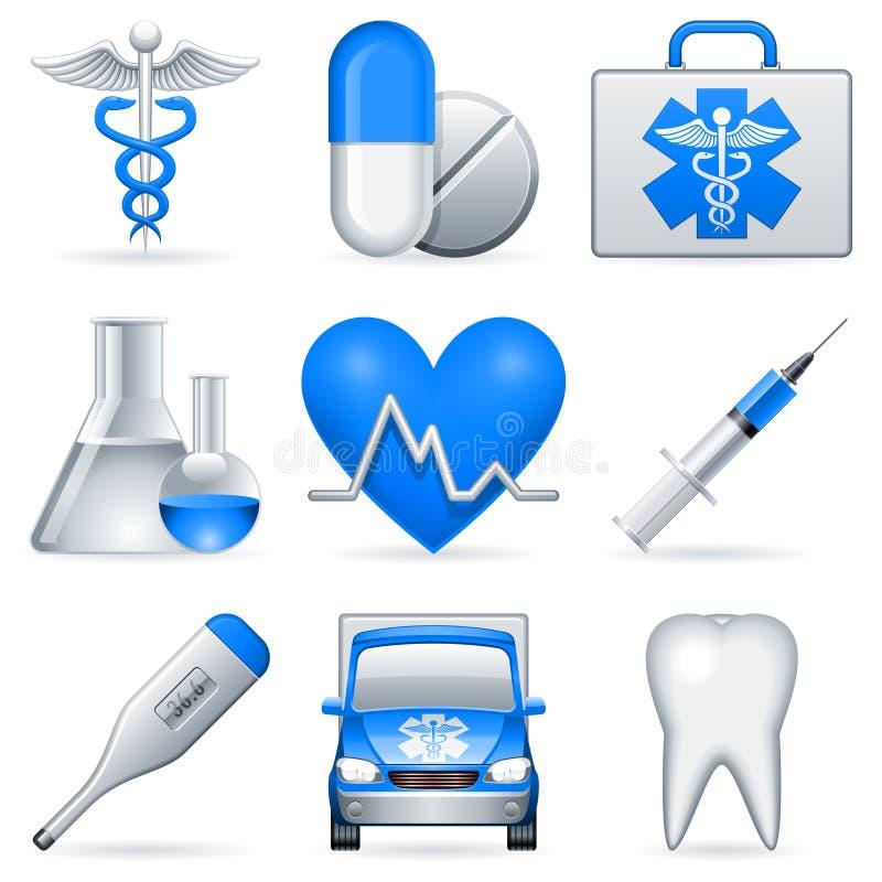 Ícones médicos. ilustração do vetor