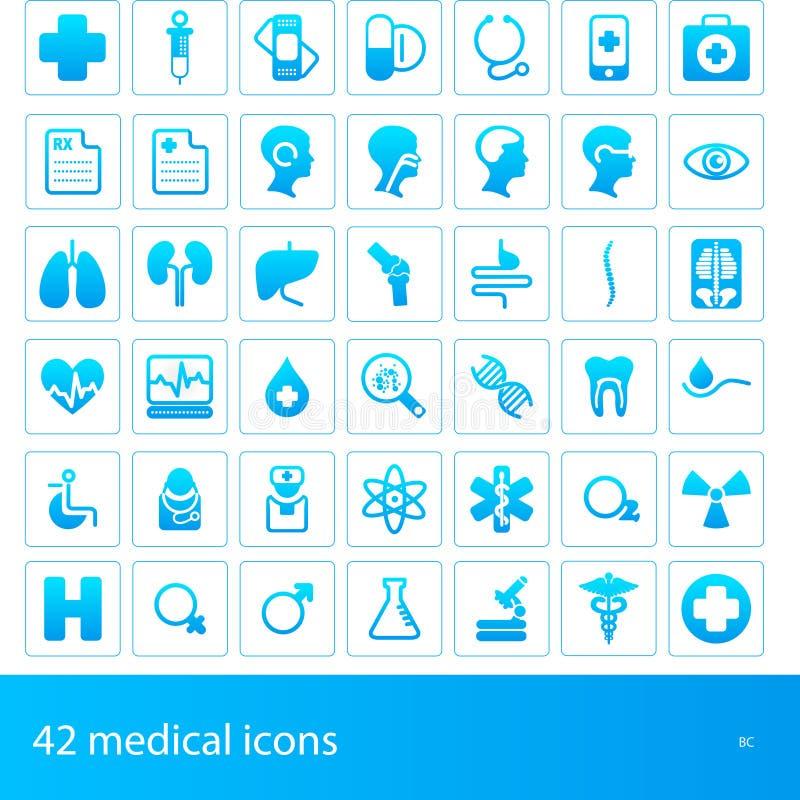 Ícones médicos ilustração stock