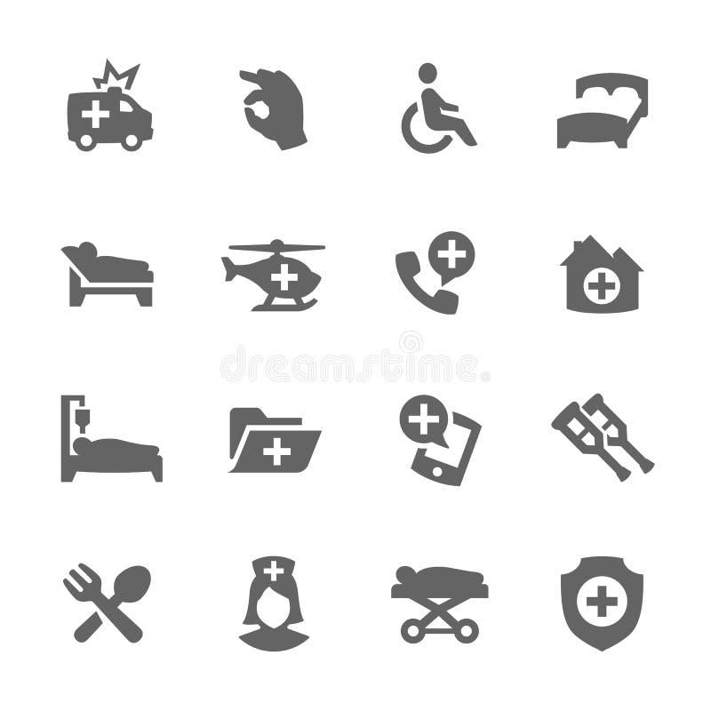 Ícones médicos do transporte ilustração stock