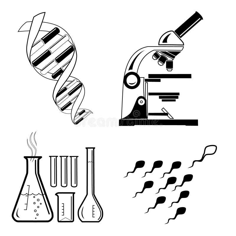 Ícones médicos do vetor ilustração stock