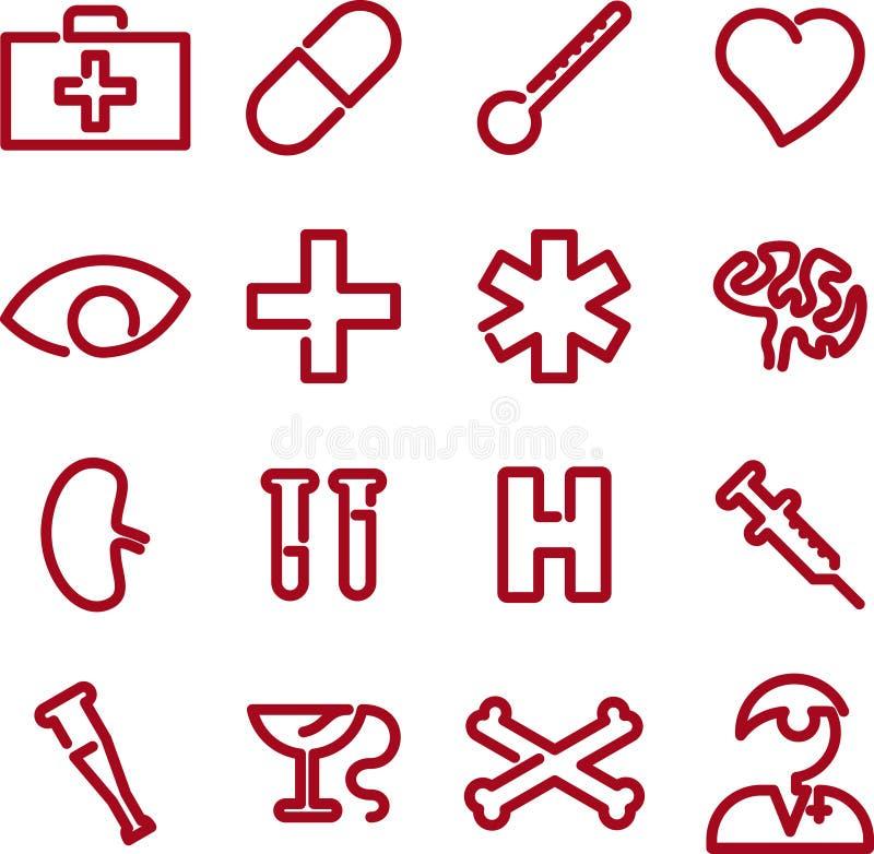 Ícones médicos (vetor) ilustração do vetor