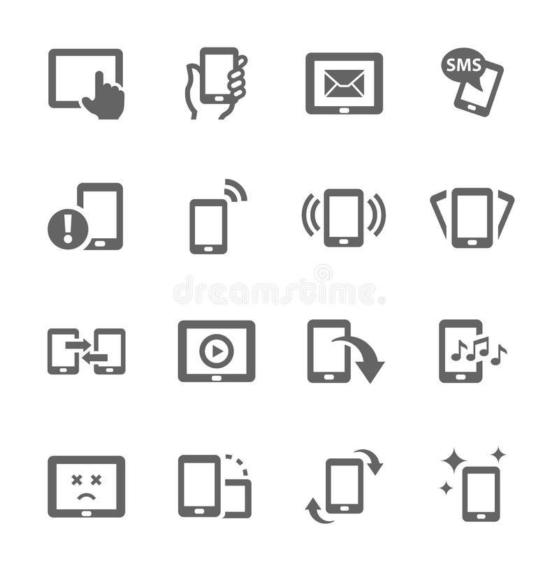 Ícones móveis ilustração stock