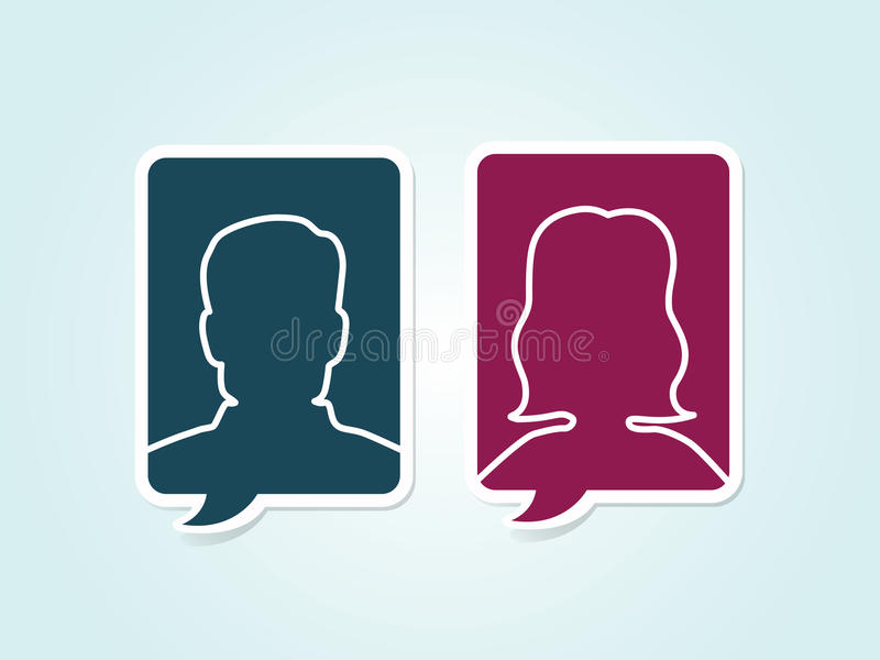 Ícones masculinos feminino do avatar do vetor simples ilustração do vetor