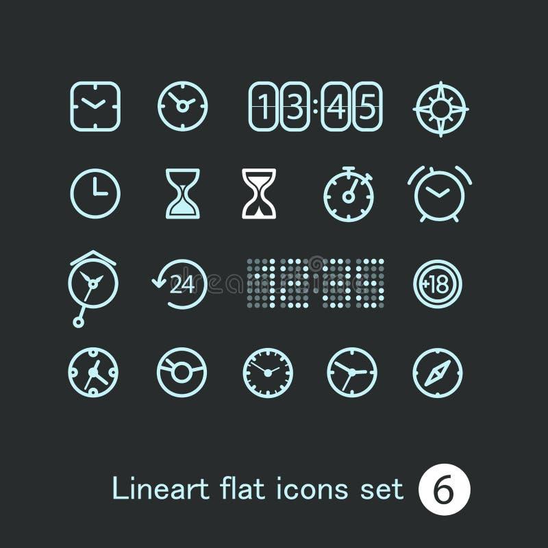 Ícones modernos diferentes da aplicação web dos meios ilustração do vetor