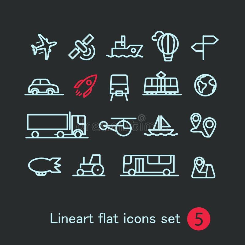 Ícones modernos diferentes da aplicação web dos meios ilustração stock